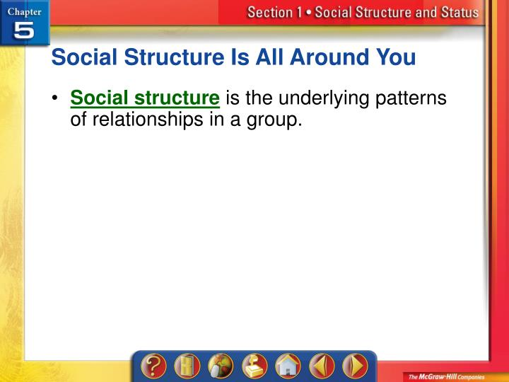 Social Structure Is All Around You