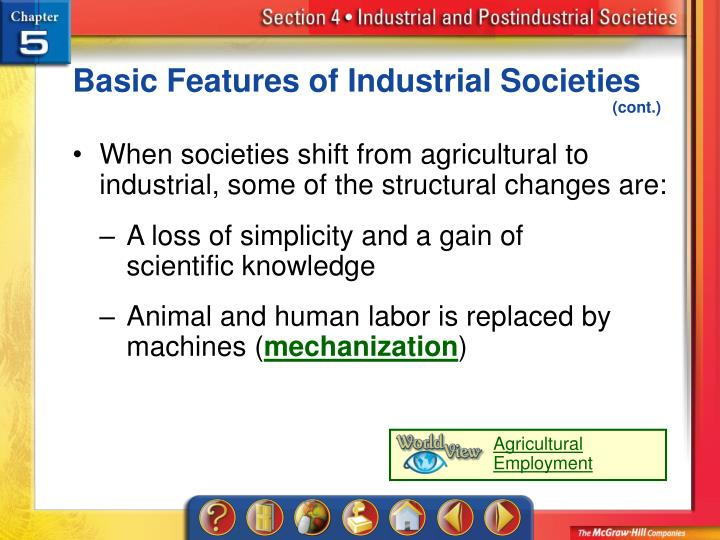 Basic Features of Industrial Societies