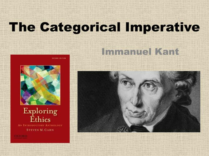 the use of the categorical imperative essay Kant's categorical imperative kant's categorical imperative is made up of two formulations, formula of universal law and the formula of the end in itself.