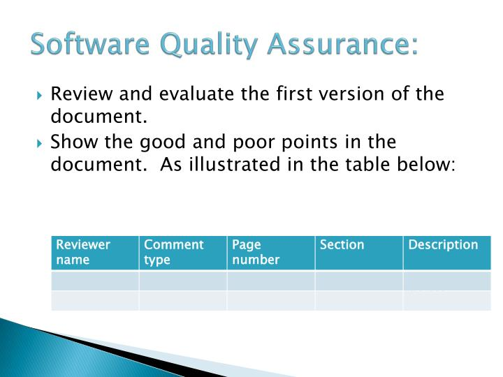 Software Quality Assurance: