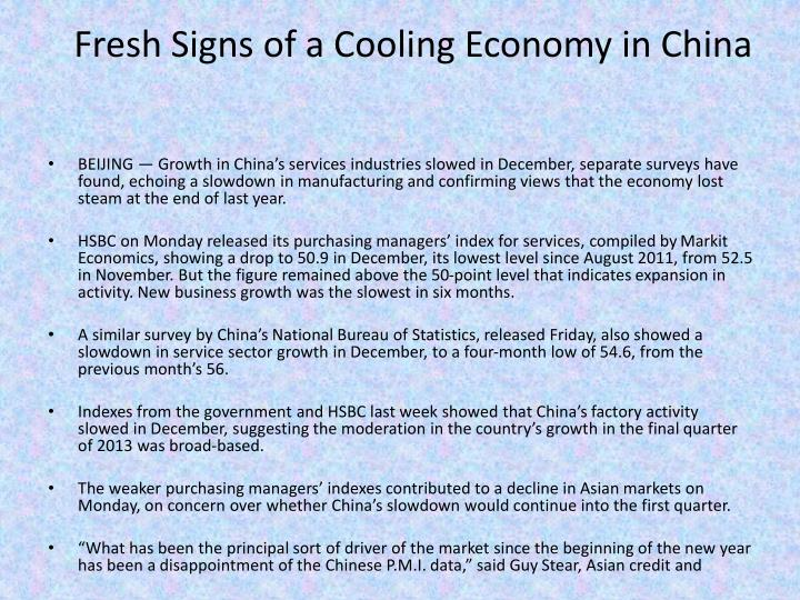 Fresh Signs of a Cooling Economy in China