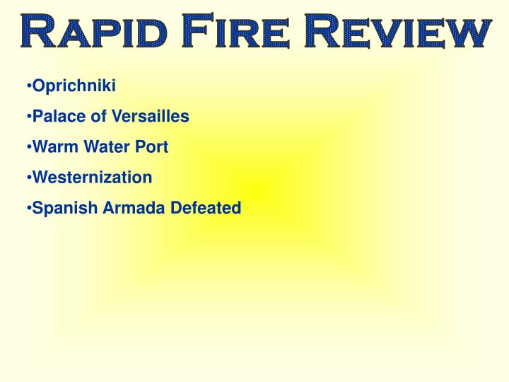 Rapid Fire Review