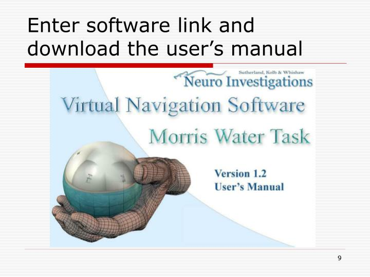Enter software link and download the user's manual