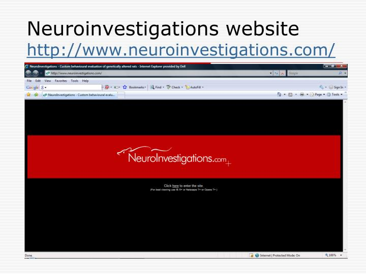 Neuroinvestigations website