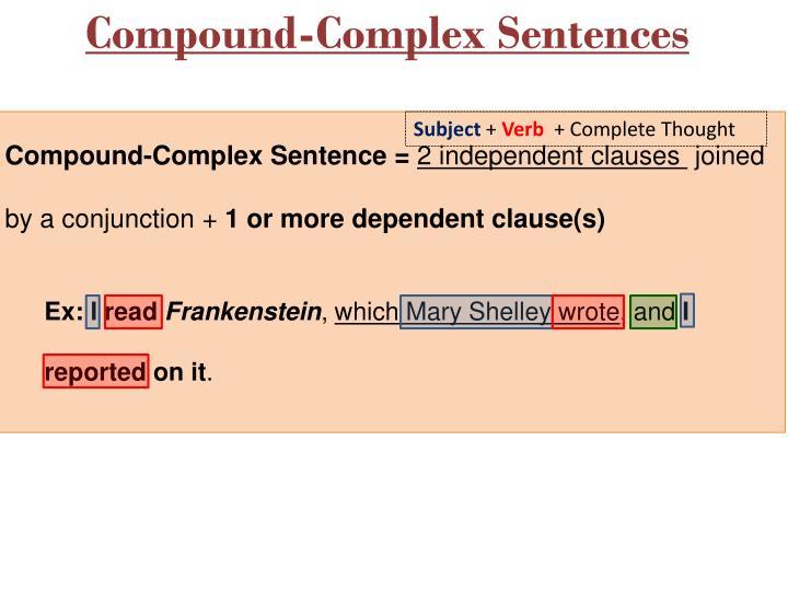 complex and compound complex sentences pdf