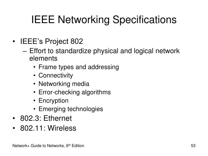 IEEE Networking Specifications