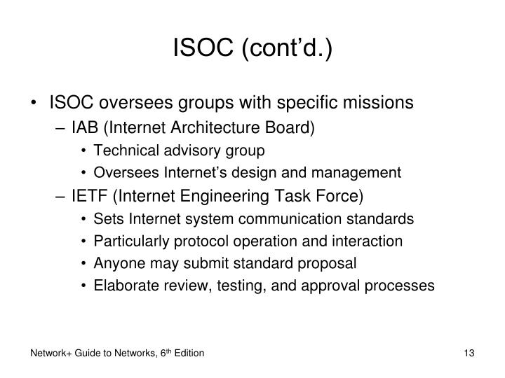 ISOC (cont'd.)