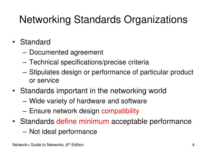 Networking Standards Organizations