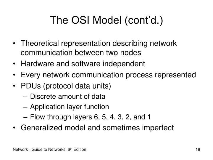 The OSI Model (cont'd.)