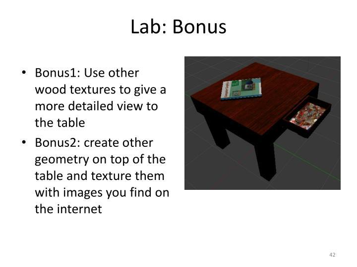 Lab: Bonus