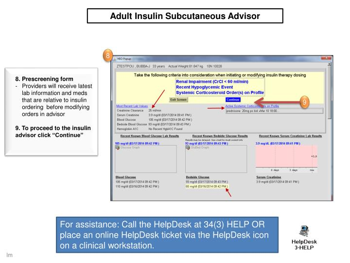 Adult Insulin Subcutaneous Advisor