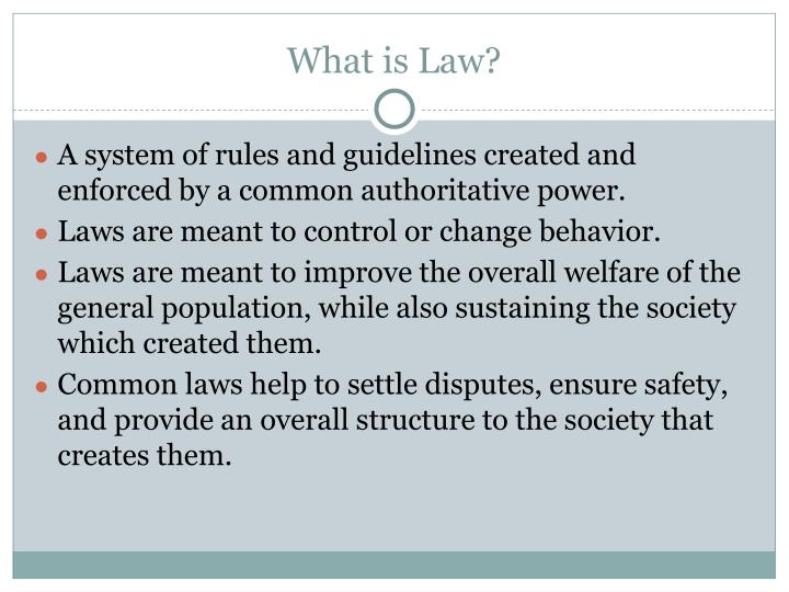 What is law