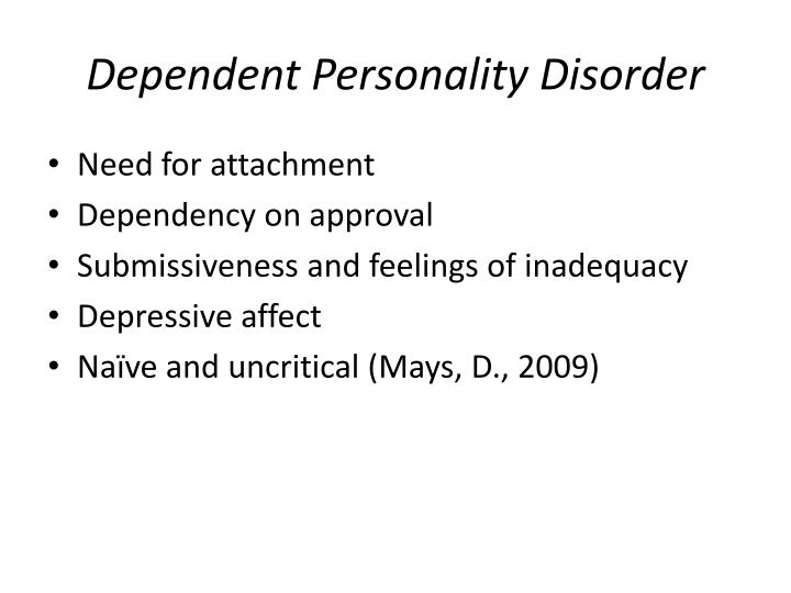 Dependent Personality