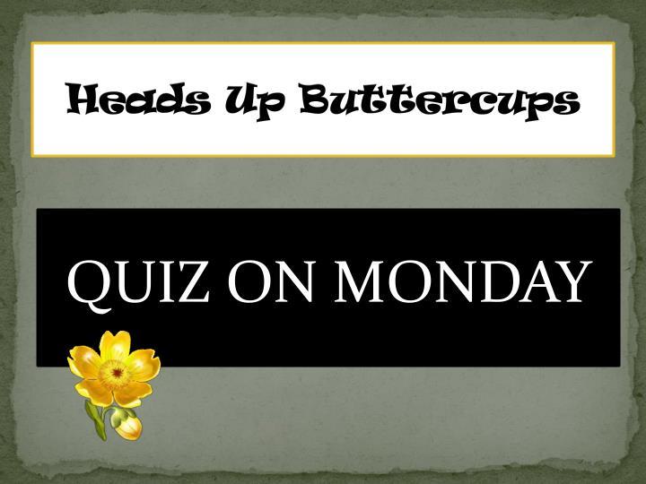 Heads Up Buttercups