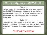 pt tier 2 options formative