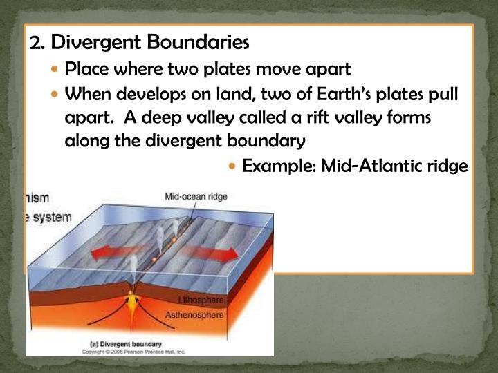 2. Divergent Boundaries
