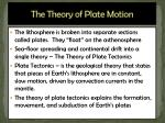 the theory of plate motion