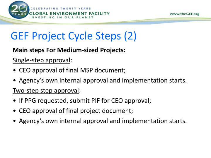 GEF Project Cycle Steps (2)
