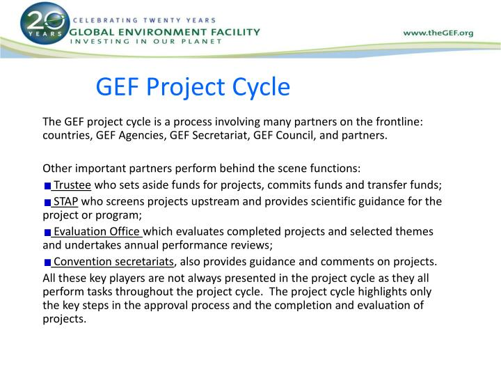 Gef project cycle1