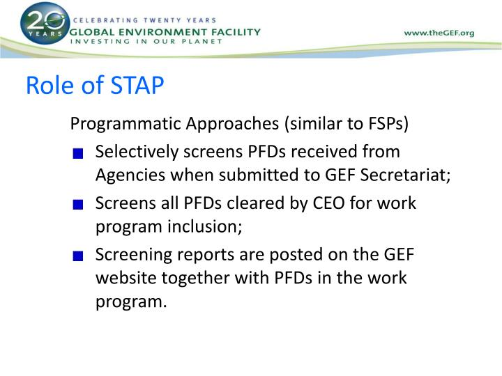 Role of STAP