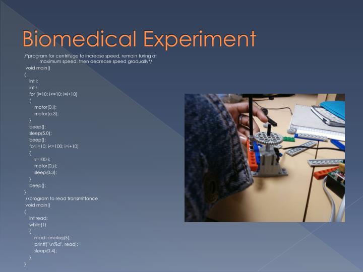 Biomedical Experiment