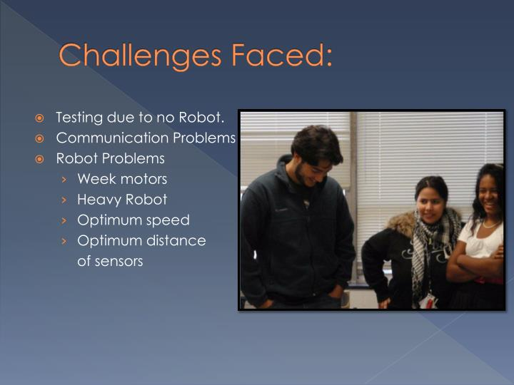 Challenges Faced: