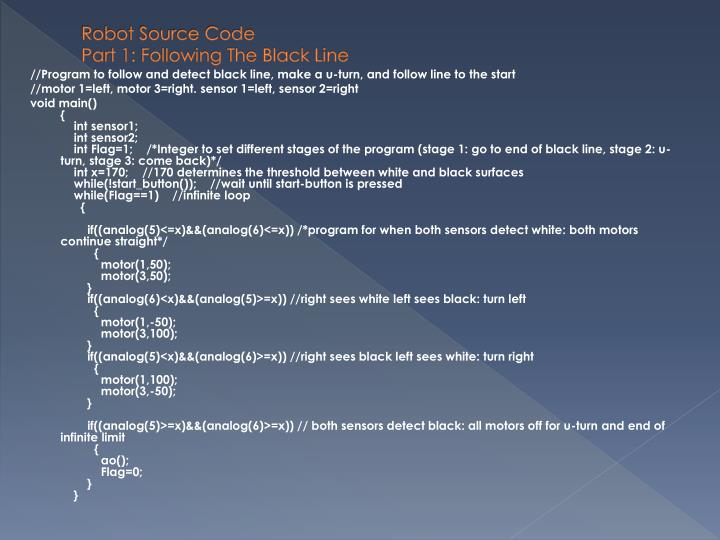 Robot Source Code