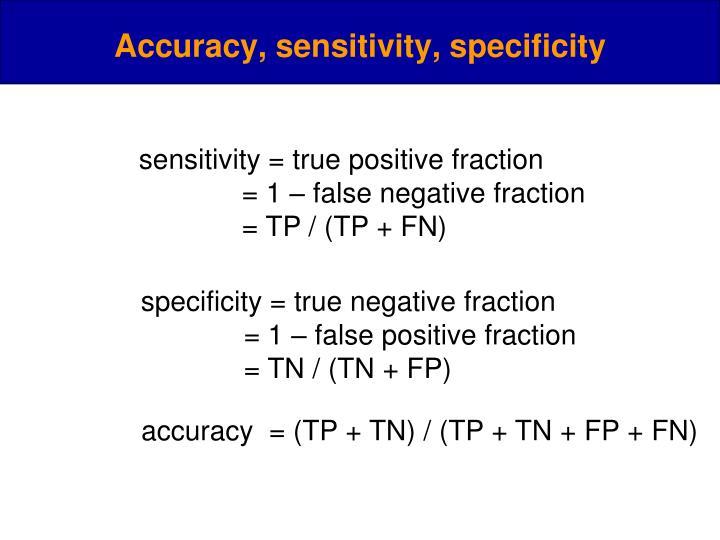 sensitivity = true positive fraction