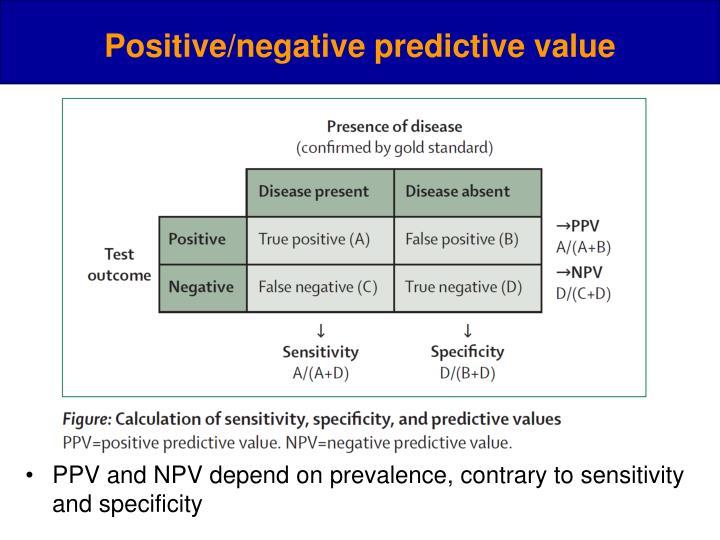 Positive/negative predictive value