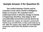 sample answer 2 for question 1