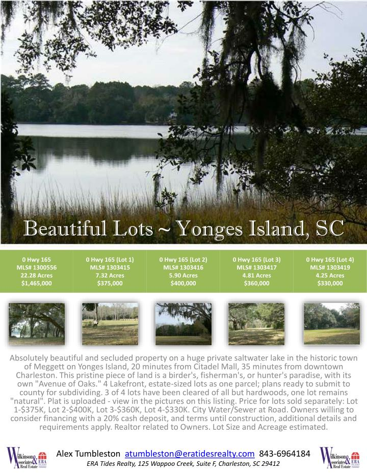 Beautiful lots yonges island sc