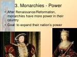 3 monarchies power