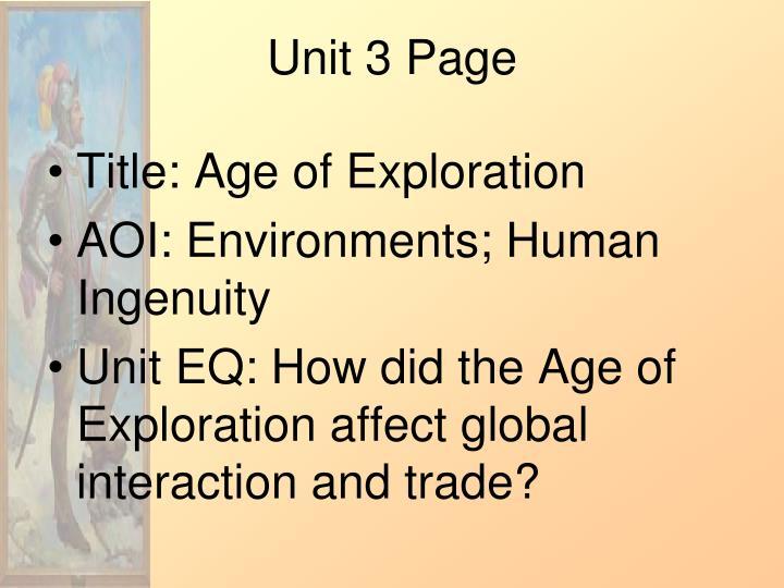 Unit 3 Page