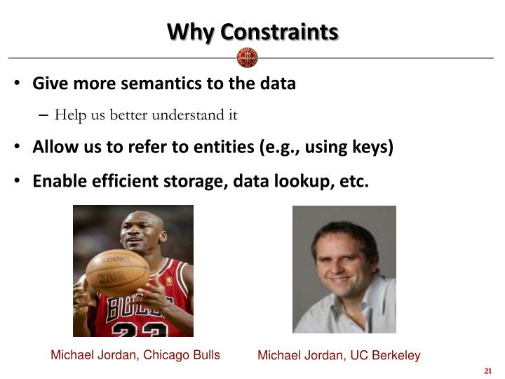 Why Constraints