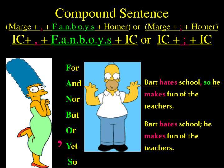 Ppt The Simpsons Teach Sentences Powerpoint Presentation