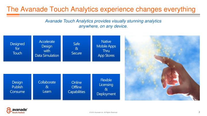 The avanade touch analytics experience changes everything