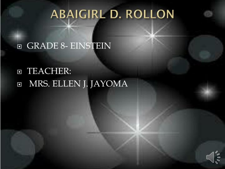 ABAIGIRL D. ROLLON