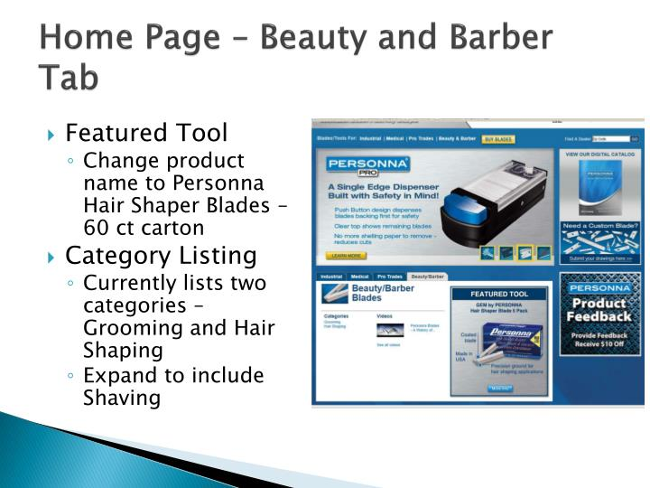 Home Page – Beauty and Barber Tab