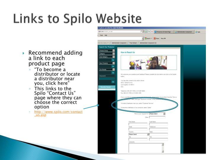 Links to Spilo Website