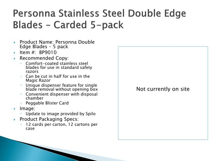 Personna Stainless Steel Double Edge Blades – Carded 5-pack