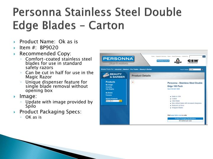 Personna Stainless Steel Double Edge Blades – Carton