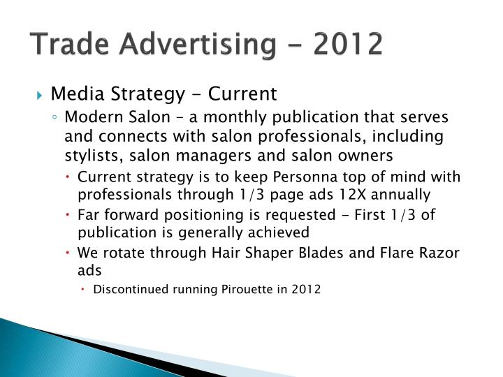 Trade Advertising - 2012