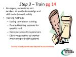 step 3 train pg 14