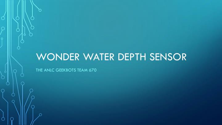 wonder water depth sensor