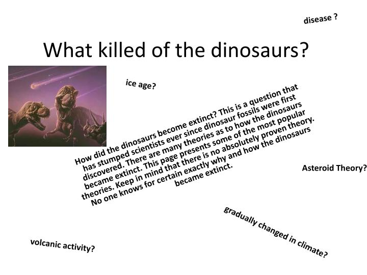 What killed of the dinosaurs