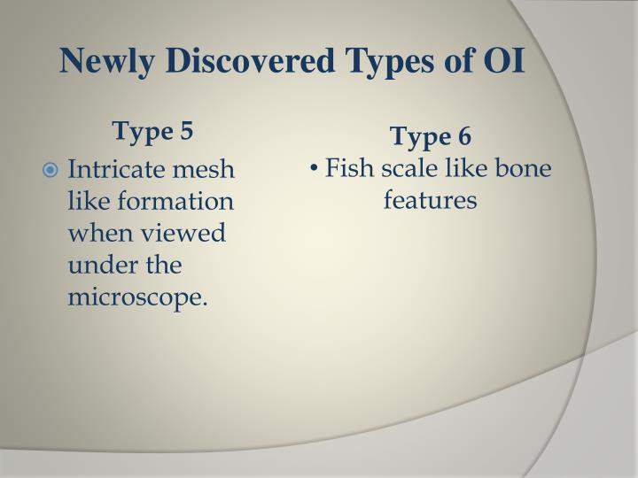 Newly Discovered Types of OI