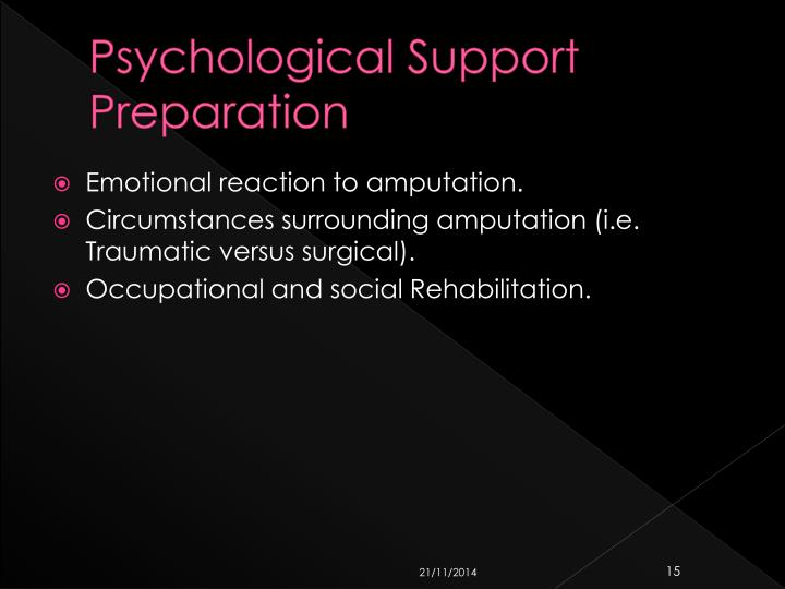 Psychological Support Preparation