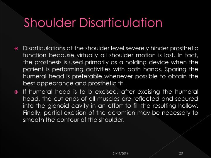 Shoulder Disarticulation