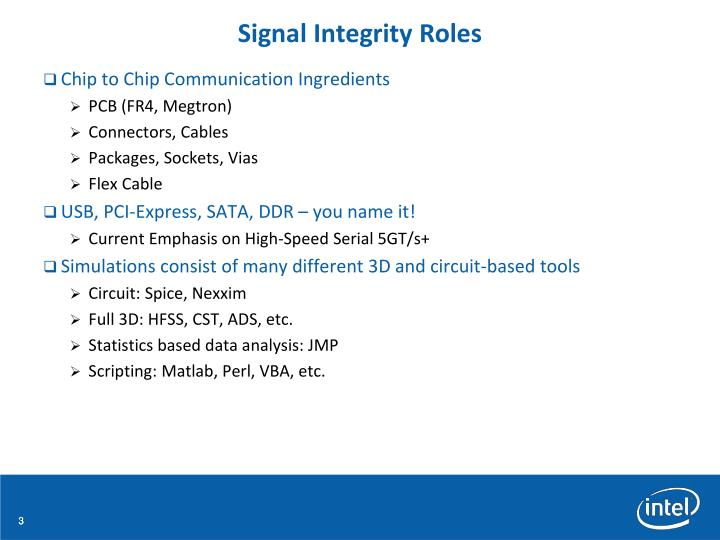 Signal Integrity Roles