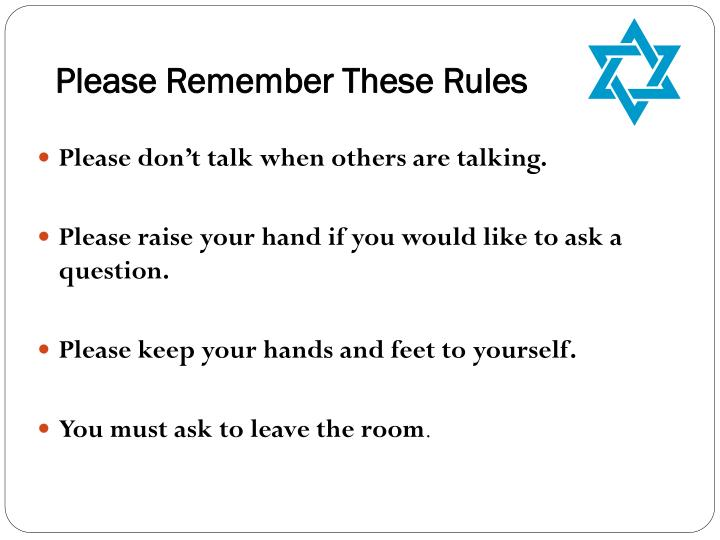 Please Remember These